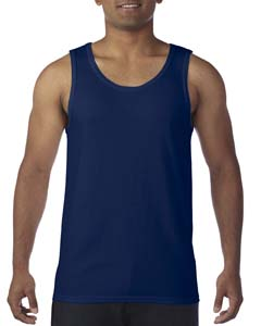 Navy Heavy Cotton Tank Top