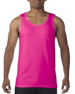Safety Pink Heavy Cotton Tank Top