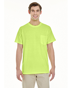 Safety Green Adult Heavy Cotton™ 5.3 oz. Pocket T-Shirt