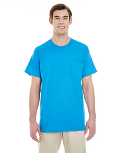 Sapphire Adult Heavy Cotton™ 5.3 oz. Pocket T-Shirt
