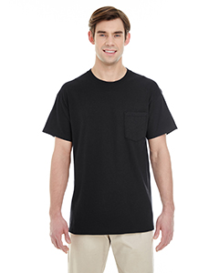 Black Adult Heavy Cotton™ 5.3 oz. Pocket T-Shirt