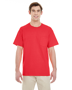 Red Adult Heavy Cotton™ 5.3 oz. Pocket T-Shirt