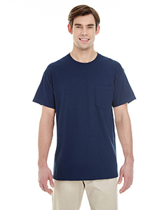Navy Adult Heavy Cotton™ 5.3 oz. Pocket T-Shirt