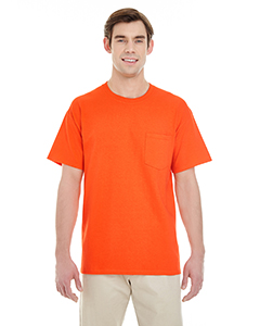 Orange Adult Heavy Cotton™ 5.3 oz. Pocket T-Shirt