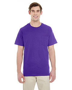 Purple Adult Heavy Cotton™ 5.3 oz. Pocket T-Shirt