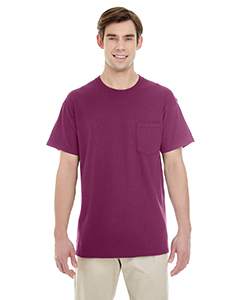 Maroon Adult Heavy Cotton™ 5.3 oz. Pocket T-Shirt