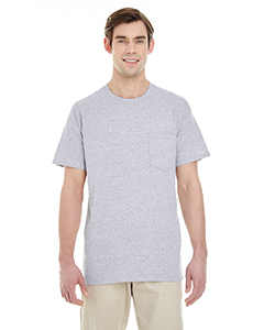 Sport Grey Adult Heavy Cotton™ 5.3 oz. Pocket T-Shirt