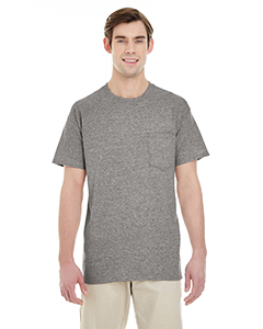 Graphite Heather Adult Heavy Cotton™ 5.3 oz. Pocket T-Shirt