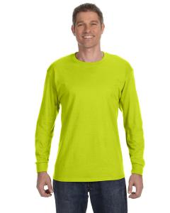Safety Green Heavy Cotton™ 5.3 oz. Long-Sleeve T-Shirt