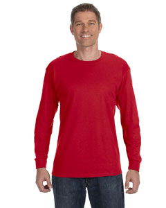Red Heavy Cotton™ 5.3 oz. Long-Sleeve T-Shirt