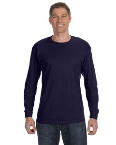 Navy Heavy Cotton™ 5.3 oz. Long-Sleeve T-Shirt