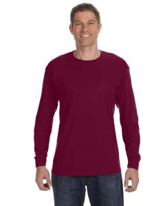 Maroon Heavy Cotton™ 5.3 oz. Long-Sleeve T-Shirt