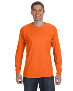 S Orange Heavy Cotton™ 5.3 oz. Long-Sleeve T-Shirt