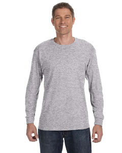 Sport Grey Heavy Cotton™ 5.3 oz. Long-Sleeve T-Shirt