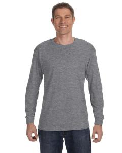 Graphite Heather Heavy Cotton™ 5.3 oz. Long-Sleeve T-Shirt