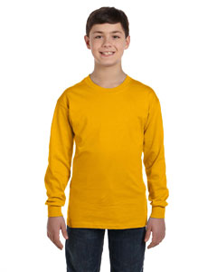 Gold Heavy Cotton™ Youth 5.3 oz. Long-Sleeve T-Shirt