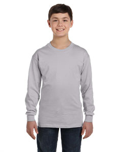 Sport Grey Heavy Cotton™ Youth 5.3 oz. Long-Sleeve T-Shirt