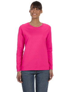 Heliconia Women's 5.3 oz. Heavy Cotton Missy Fit Long-Sleeve T-Shirt