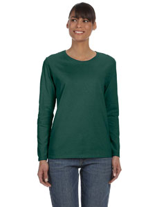 Forest Green Ladies' Heavy Cotton™ 5.3 oz. Long-Sleeve T-Shirt