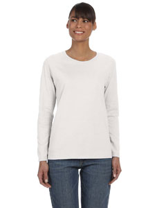Ash Grey Ladies' Heavy Cotton™ 5.3 oz. Long-Sleeve T-Shirt