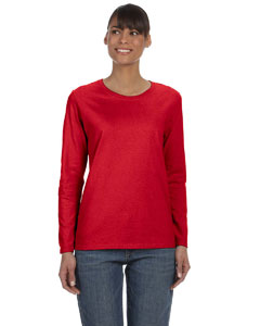 Red Women's 5.3 oz. Heavy Cotton Missy Fit Long-Sleeve T-Shirt