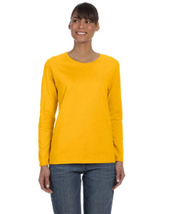 Gold Ladies' Heavy Cotton™ 5.3 oz. Long-Sleeve T-Shirt