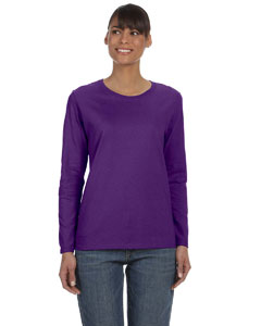 Purple Ladies' Heavy Cotton™ 5.3 oz. Long-Sleeve T-Shirt