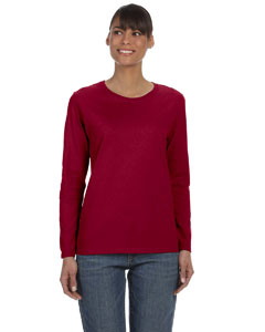Cardinal Red Ladies' Heavy Cotton™ 5.3 oz. Long-Sleeve T-Shirt