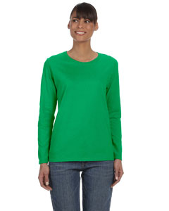 Irish Green Ladies' Heavy Cotton™ 5.3 oz. Long-Sleeve T-Shirt