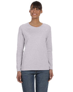 Sport Grey Ladies' Heavy Cotton™ 5.3 oz. Long-Sleeve T-Shirt