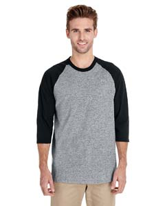 Sport Grey/black Heavy Cotton ¾-Sleeve Raglan