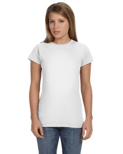 White Women's 4.5 oz SoftStyle® Junior Fit T-Shirt