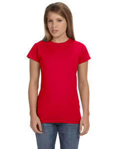 Cherry Red Women's 4.5 oz SoftStyle® Junior Fit T-Shirt