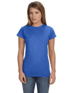 Heather Royal Women's 4.5 oz SoftStyle® Junior Fit T-Shirt