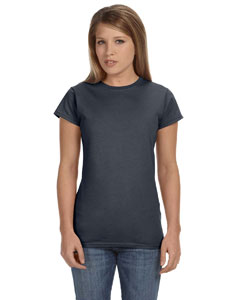 Charcoal Women's 4.5 oz SoftStyle® Junior Fit T-Shirt