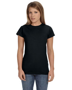 Black Women's 4.5 oz SoftStyle® Junior Fit T-Shirt