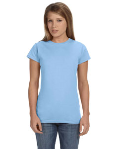 Light Blue Women's 4.5 oz SoftStyle® Junior Fit T-Shirt