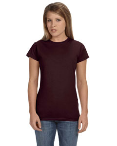 Dark Chocolate Women's 4.5 oz SoftStyle® Junior Fit T-Shirt