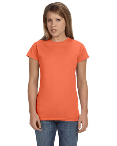 Heather Orange Women's 4.5 oz SoftStyle® Junior Fit T-Shirt