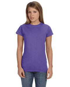Heather Purple Women's 4.5 oz SoftStyle® Junior Fit T-Shirt