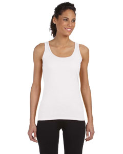 White Women's 4.5 oz. SoftStyle® Junior Fit Tank Top