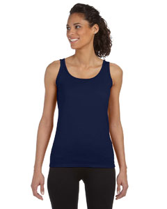Navy Women's 4.5 oz. SoftStyle® Junior Fit Tank Top