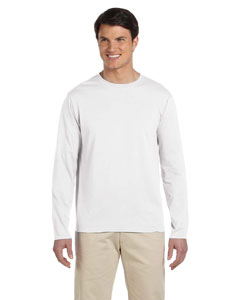 White Softstyle® 4.5 oz. Long-Sleeve T-Shirt