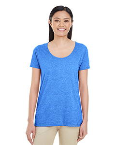 Heather Royal Ladies' Softstyle®  4.5 oz. Deep Scoop T-Shirt