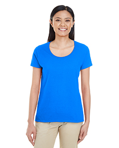 Royal Ladies' Softstyle®  4.5 oz. Deep Scoop T-Shirt
