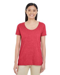 Heather Red Ladies' Softstyle®  4.5 oz. Deep Scoop T-Shirt