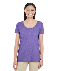 Heather Purple Ladies' Softstyle®  4.5 oz. Deep Scoop T-Shirt