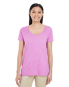 Hth Rdnt Orchid Ladies' Softstyle®  4.5 oz. Deep Scoop T-Shirt