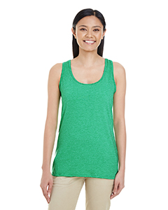 Hthr Irish Green Ladies' Softstyle®  4.5 oz Racerback Tank