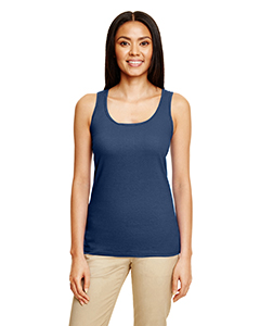 Navy Ladies' Softstyle®  4.5 oz Racerback Tank